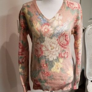 Ralph Lauren floral wool sweater new